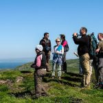 Calvin Jones with a group of wildlife watchers on a West Cork headland