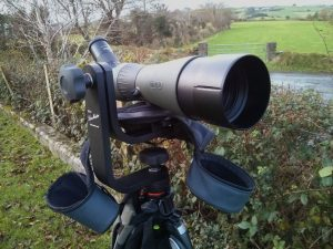 Lensmaster RH-2 with Meopta S2 spotting scope attached