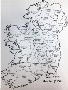 Red Squirrel Distribution in Ireland 1910